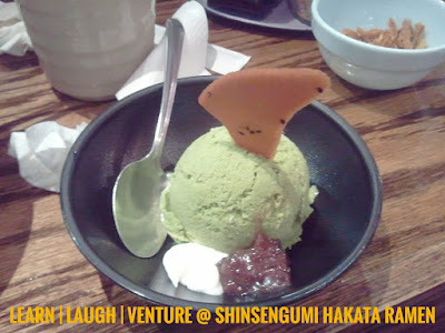 Shinsengumi Hakata Ramen Green Tea Ice Cream