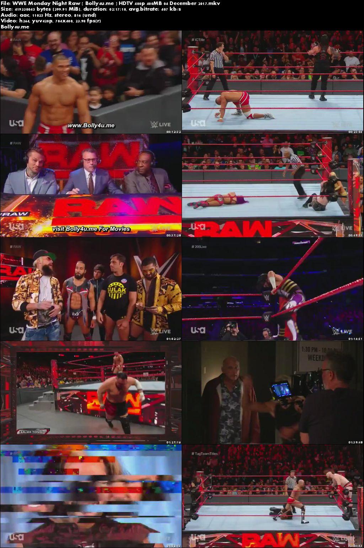 WWE Monday Night Raw HDTV 480p 400MB 04 December 2017 Download