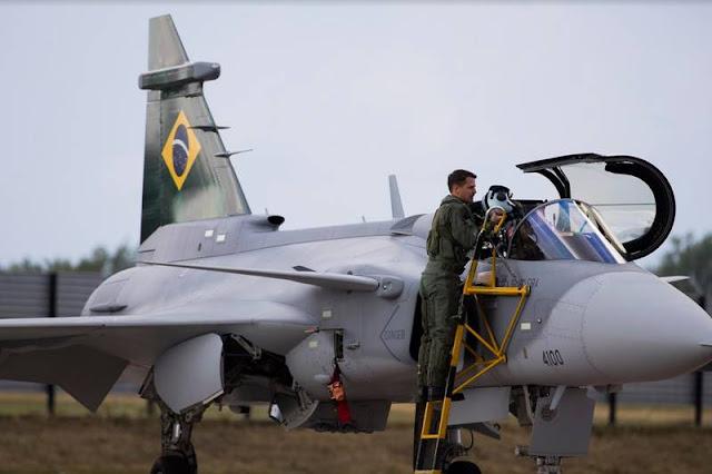 Brazilian pilot flight Gripen E