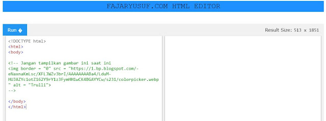 Tag Komentar Pada HTML