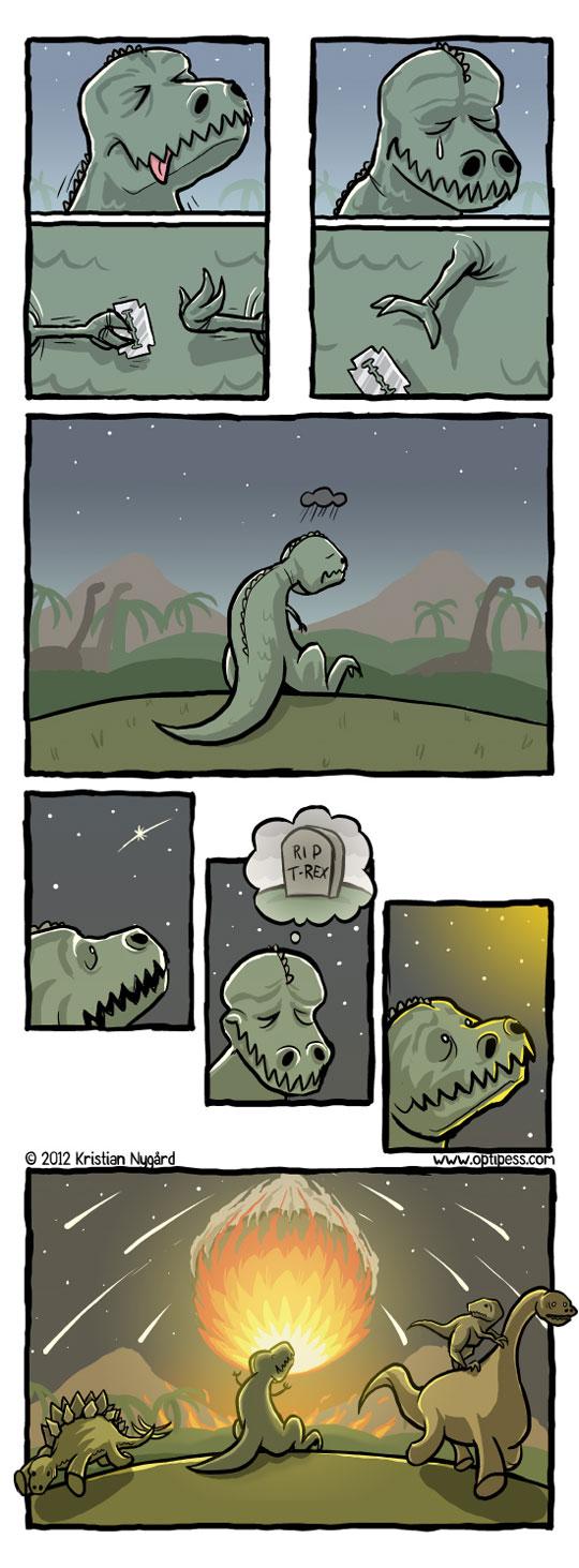 Descobrimos quem matou os dinossauros.