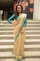 Tejaswi Madivada looks super cute in Saree at V care fund raising event COLORS ~  Exclusive 096.JPG