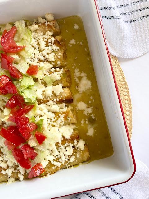 3 Ingredient Chicken Taquito Bake