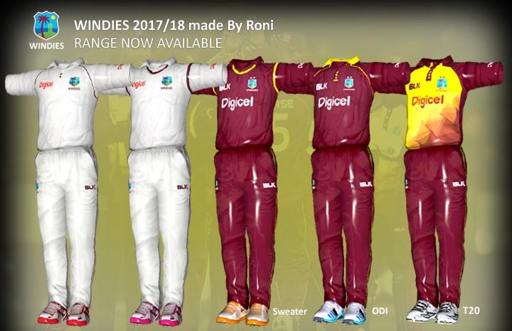 WEST INDIES 2017/18 HD KITS