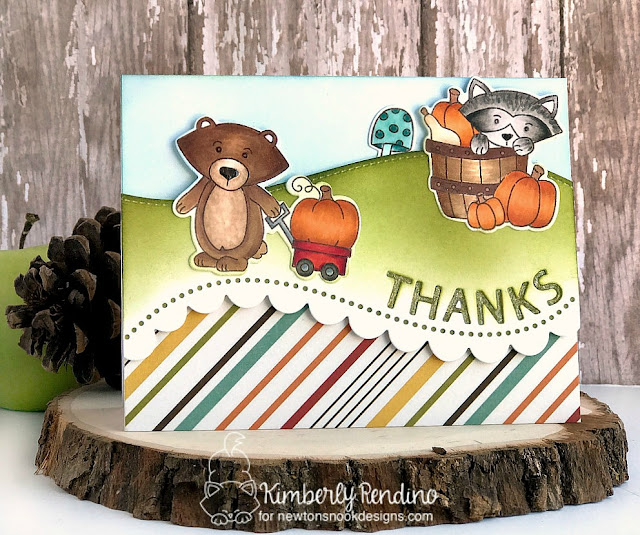 Bushel of Love Card by Kimberly Rendino | Simon Says Stamp | Stamptember | Newton's Nook Designs | fall | autumn | cardmaking | papercraft | clear stamps | stamping | handmade card