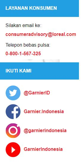 kontak garnier Indonesia