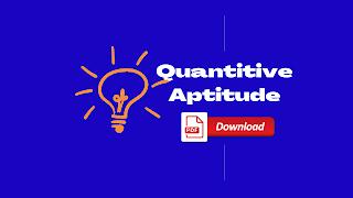 Quantitive Aptitude Quiz For IBPS PO & Clerk Exam