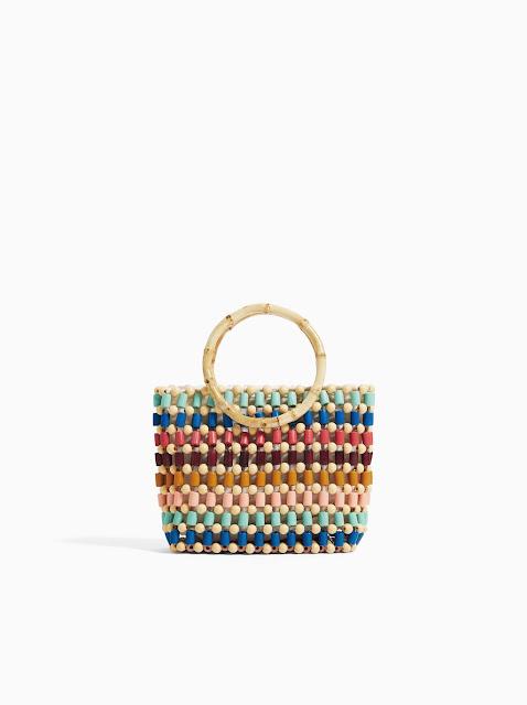 torebka z koralików, koralikowa torba, torebka na lato