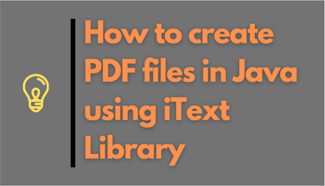 How to create PDF files in Java using iText