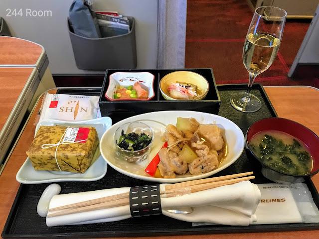 JALファーストクラス機内食2