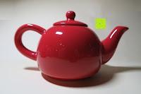 Kanne: Porzellan Teekannenservice von Original First Tea (Rot)
