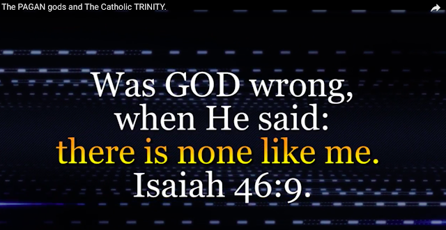 Was GOD wrong, when He said: there is none like me. Isaiah 46:9.