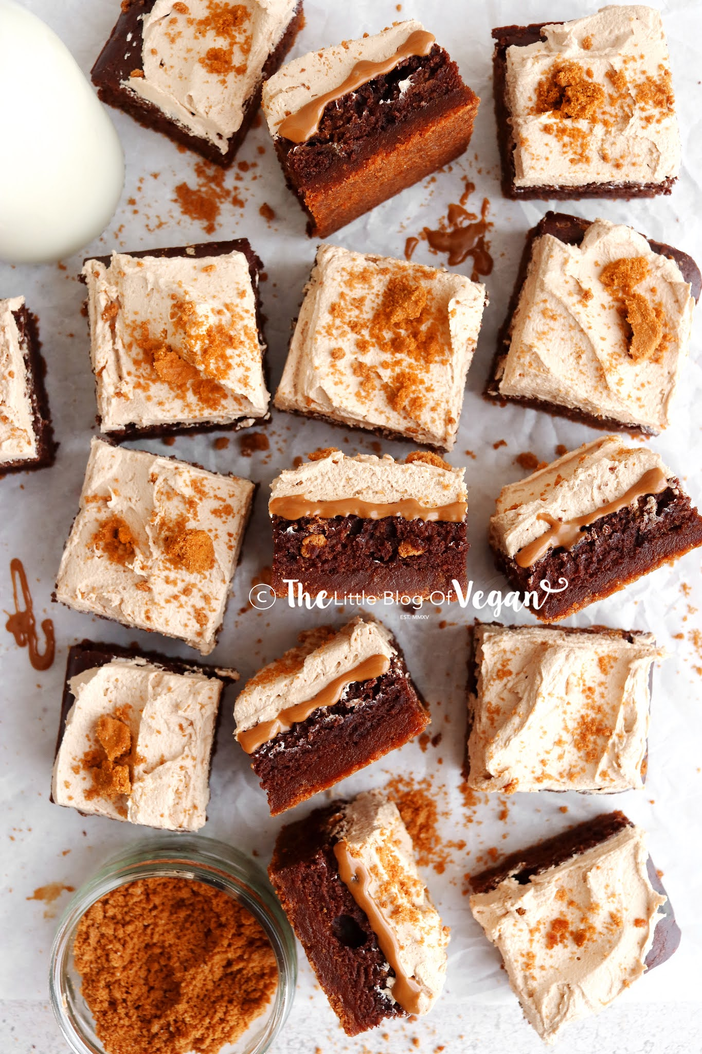 Biscoff-brownies-with-a-biscuit-base
