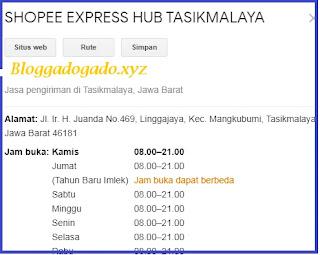 Alamat dan nomor telepon Shopee express standard Tasikmalaya