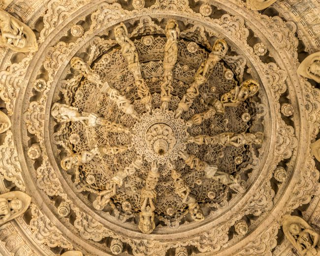 A closeup of the Ceiling