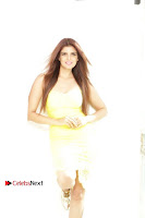 Actress Model Ihana Dhillon Poshoot Gallery in Yellow Lace Short Dress  0017.jpg