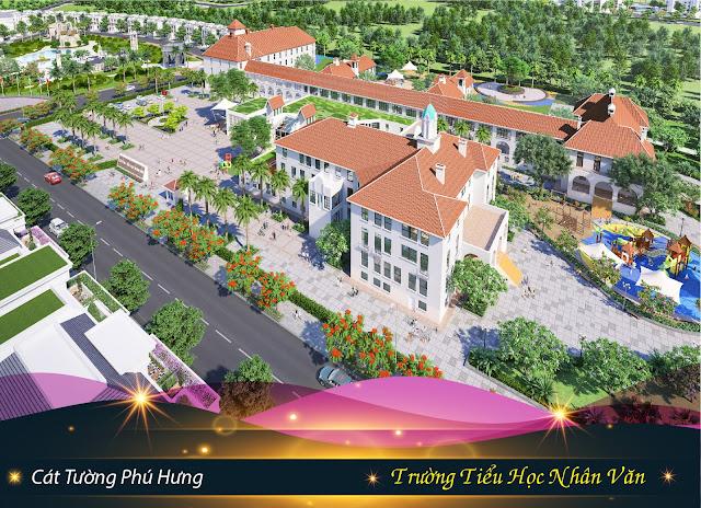 Trường tiểu hoc Nhân Văn tại dự án Khu Đô Thị Phức Hợp & Cảnh Quan Cát Tường Phú Hưng