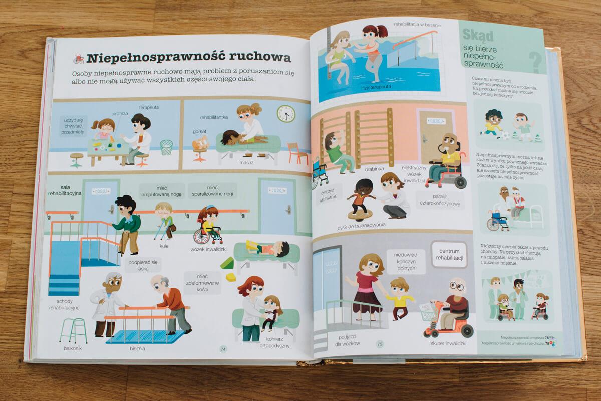 środek książki ciało człowieka dla najmłodszych dzieci o ciele
