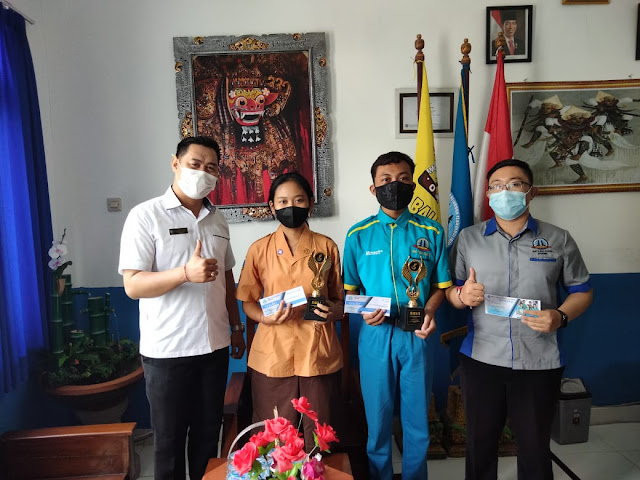 SMK TI Bali Global Badung, Juara 1 dan 2 Desain Blog Fasttekno 2021 ITB Stikom Bali