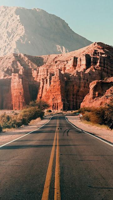 Landscape, Nature, Road, Asphalt, Mountains, Rocks