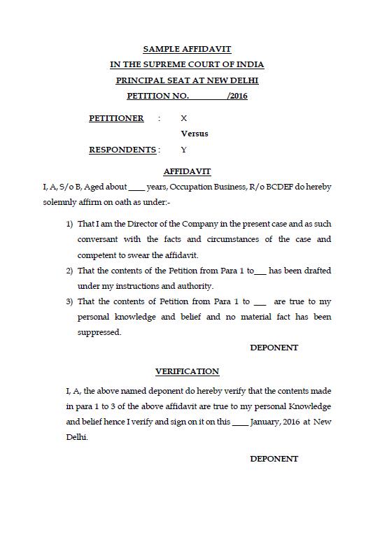 Doc400518 Simple Affidavit Sample Sample Affidavit Free Sworn – Simple Affidavit Form
