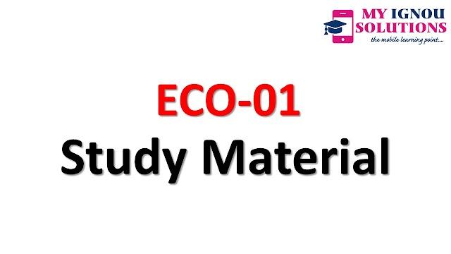 IGNOU    ECO-01    Study Material