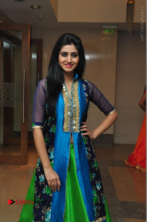 Actress Model Shamili Sounderajan Pos in Desginer Long Dress at Khwaaish Designer Exhibition Curtain Raiser  0044.JPG