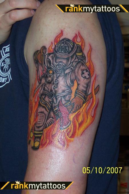 Firefighter Tattoo Designs: Firefighter Tattoos