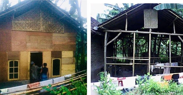 Foto sebelum dan sesudah dibedah oleh KL Lazismu Bangsalsari