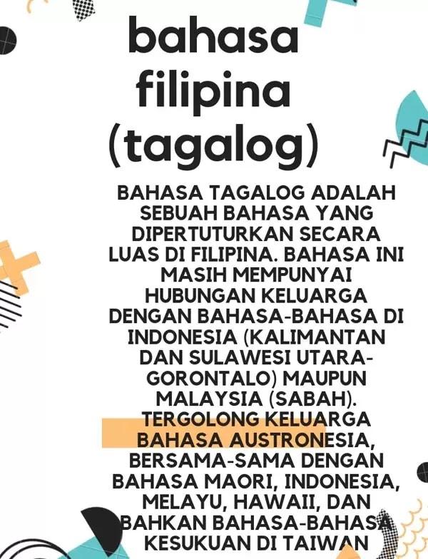 infografis bahasa filipina