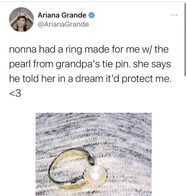 special ring and pearl for ariana