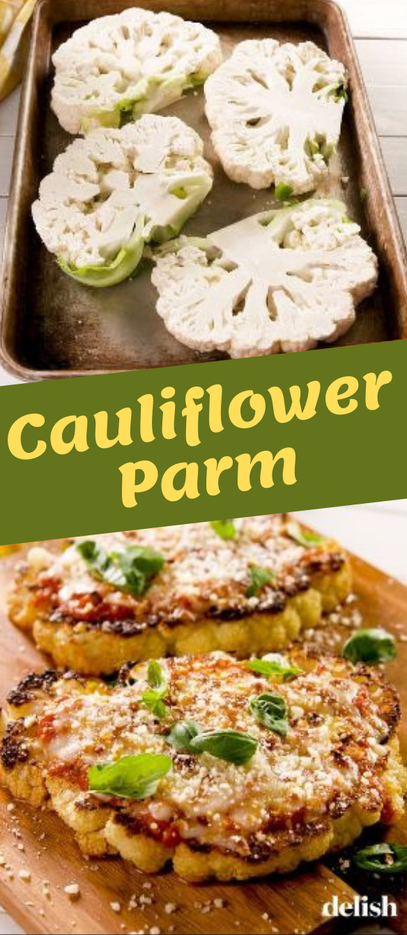 Cauliflower Parm #vegan #cauliflower