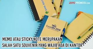 Memo atau Sticky Note merupakan salah satu souvenir yang wajib ada di kantor