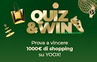 """Concorso Yoox """"Quiz&win"""": gioca e vinci gratis 1.000 euro per il tuo shopping"""
