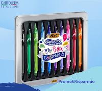 Cartoleria Italiana : vinci gratis 5 Box di penne Bic Gel-ocity Quick Dry