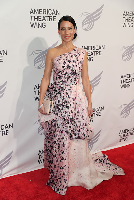 Lucy Liu with Tyler Ellis Clutch