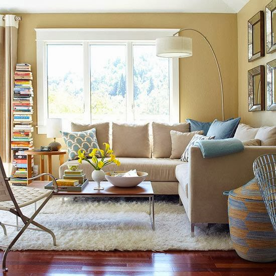Blue Living Room: Interior Color Combinations #4