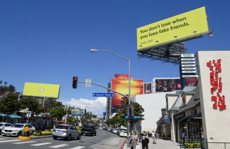 Snapchat Sunset Strip billboards 2019