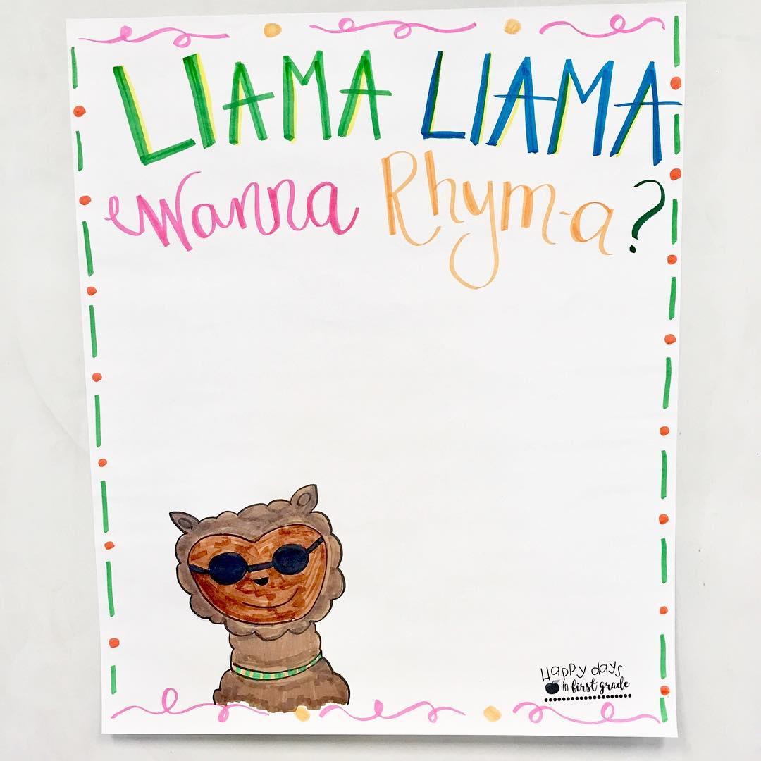 How To Teach Rhyming Using Llama Llama Books