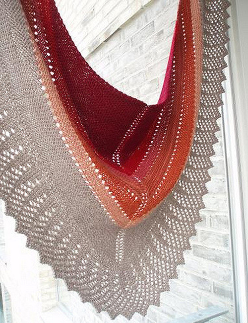 Transition Stash-buster Shawl - Free Pattern