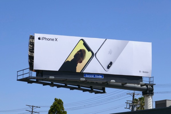 Summer 2018 iPhone X billboard