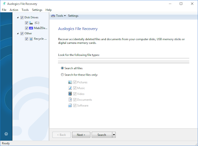 File Recovery GUI Auslogics Boost Speed 8