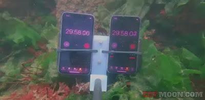 جهاز من شركة ابل يختبر جهاز ايفون 11 برو تحت الماء