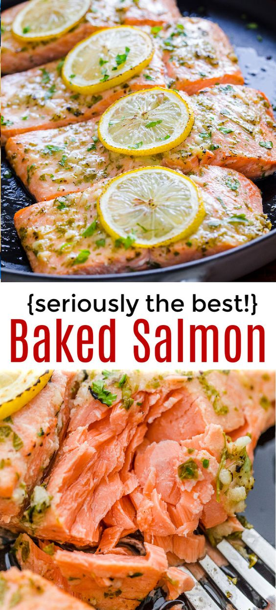 Amazing Baked Salmon with Garlic and Dijon