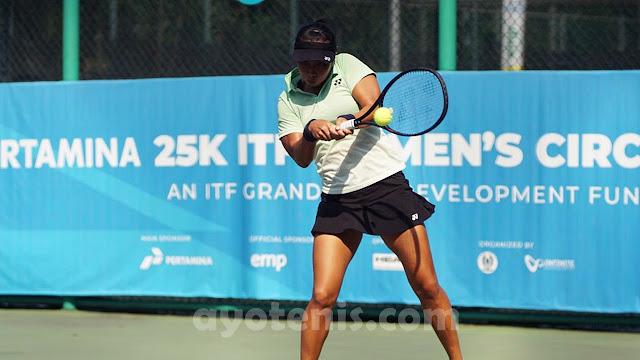 Aldila Sutjiadi Maju ke Babak II Turnamen Tenis Pertamina 25K ITF Women's Circuit
