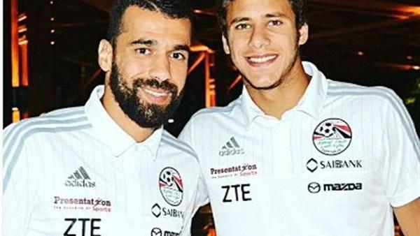عبد الله السعيد ورمضان صبحي يتقاسمان مباراة مصر والبرتغال