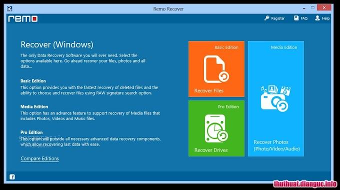 Download Remo Recover 4.0.0.67 Full Cr@ck – Phần mềm khôi phục dữ liệu chuyên nghiệp