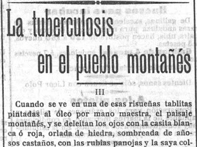 Fragmento de la tercera entrega de su trabajo sobre la tuberculosis publicado en el verano de 1901