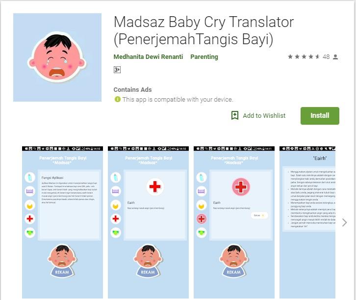 Aplikasi Penerjemah Tangis Bayi Usia 0-3 Bulan Karya Anak