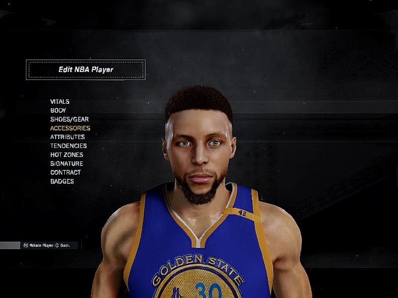 nba 2k17 stephen curry cyberface by 2ktons dna of